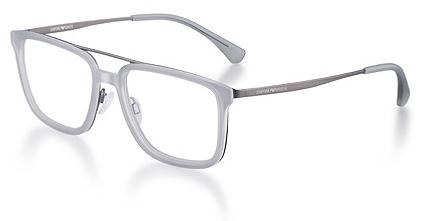 ac2ffdacd EA 1073 - Óculos com armação de ponta com estrutura metálica e frente fibra  de nylon injetada. A sombra opalina da fibra de nylon agradavelmente  contrasta ...