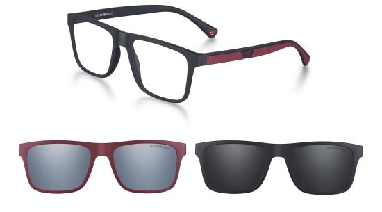 6b9a4d2115210 EA 4115 - Coloridos, fáceis de usar, ideais para qualquer ocasião e look,  estes óculos de receituário com um formato retangular, possuem dois clips  em cores ...