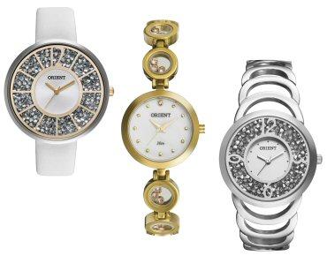 df36281fd55ec Orient apresenta modelos de relógios femininos com cristais Swarovski