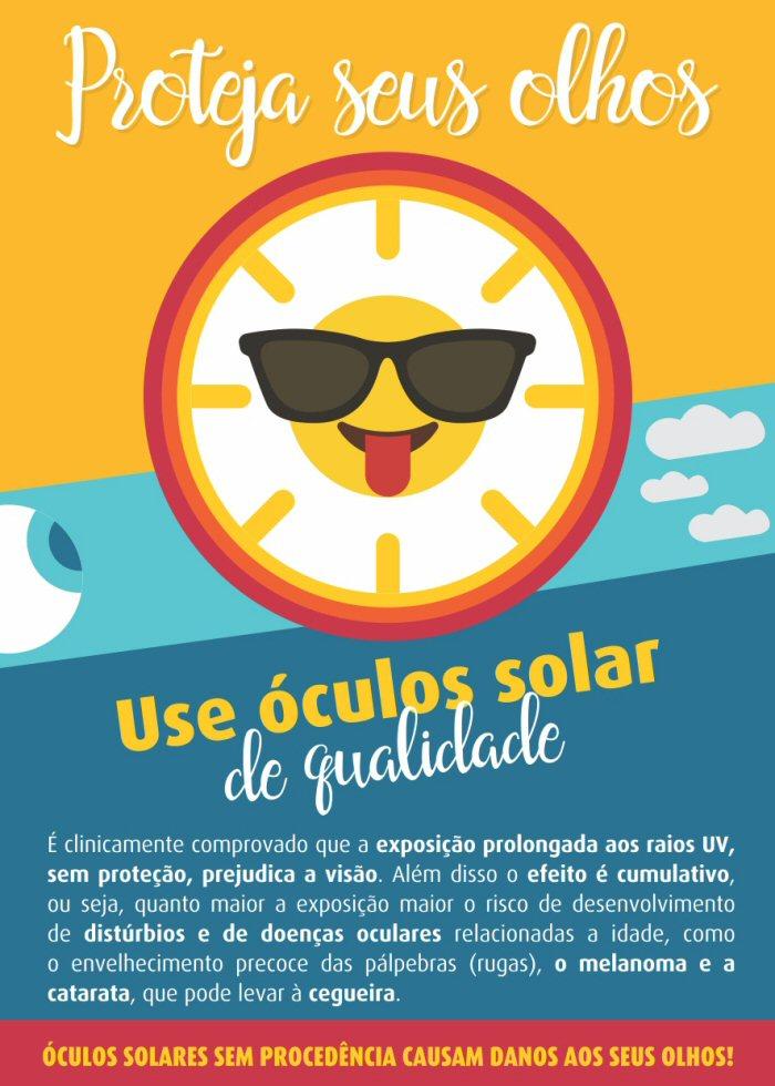 b71042dd79e3a Proteja seus olhos, use óculos solar de qualidade. Este é o lema da  campanha que chega ao litoral gaúcho, em sua oitava edição, com o objetivo  de ...