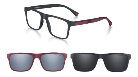 9f07ffb40 Óptica no Brasil · Emporio Armani aposta em óculos coloridos e criativos  para o outono/inverno